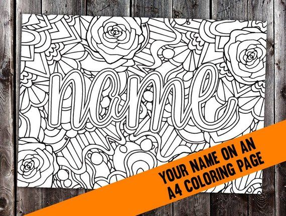 Custom Coloring Page From Your Name Cbl00n Printable A4 Pdf Or