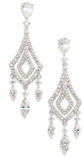 Nadri Cubic Zirconia Chandelier Earrings Earrings Chandelier Earrings Nadri Jewelry