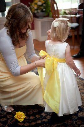 Yellow sash on white flower girl dress photographer kristen yellow sash on white flower girl dress photographer kristen gardner photography mightylinksfo