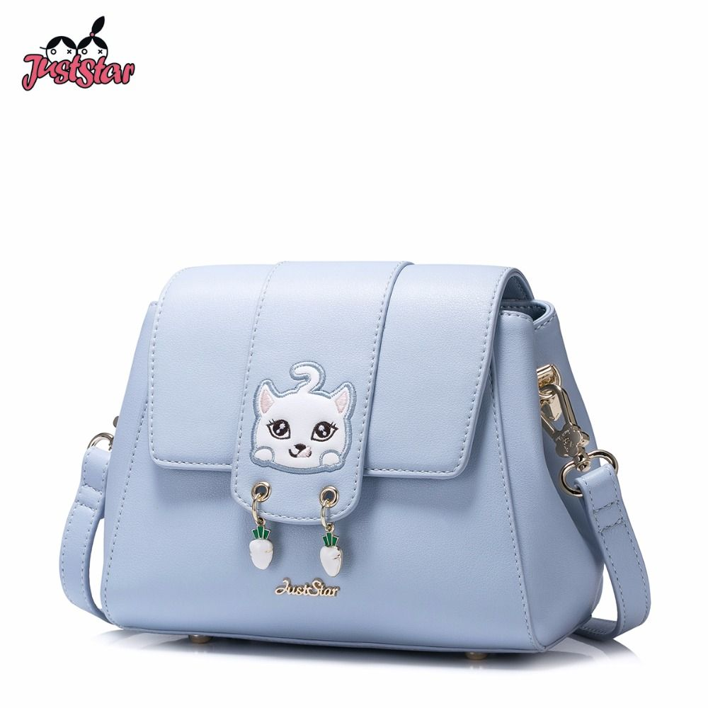 c4d14177f8 JUST STAR Women s PU Leather Messenger Bags Ladies Cartoon Cat Embroidery Shoulder  Purse Female Doctor Crossbody Bag JZ4514  Affiliate