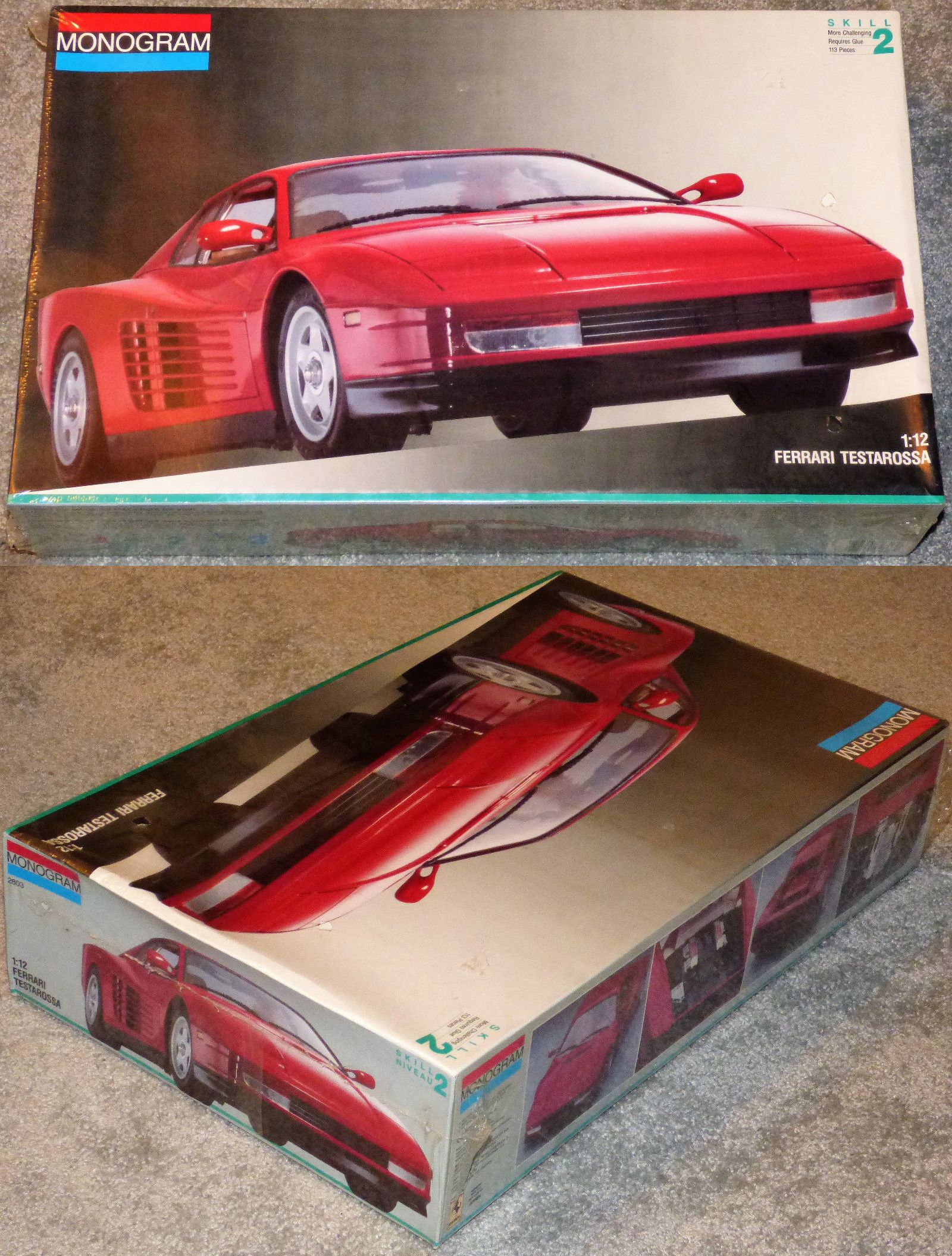 1 12 Scale 145972 Monogram Ferrari Testarossa 1 12 Scale Car Model Kit 2803 New Nib Buy It Now Only 89 9 Model Cars Kits Plastic Model Kits Tamiya Models