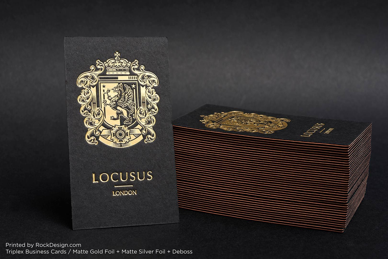 Triplex gold foil deboss elegant luxury business card design ...