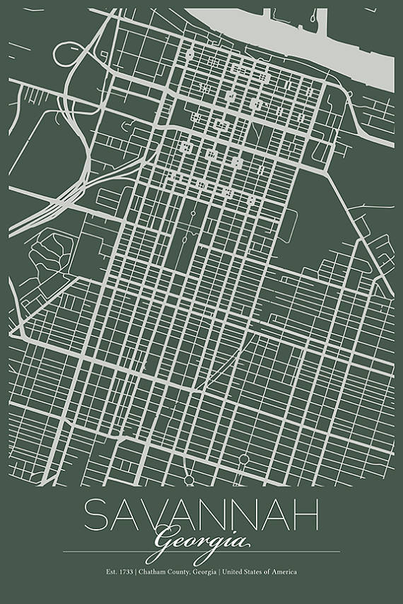 Modern City Road Map Art Print // Savannah, GA // Graphic ... on crime map savannah ga, zip code savannah ga, us map savannah ga, tourist map savannah ga, atlas map savannah ga, weather map savannah ga, city savannah ga, street map savannah ga, georgia savannah ga,