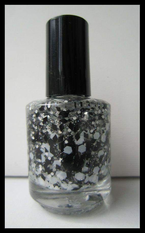 NEW Black & White Topper Nail Polish