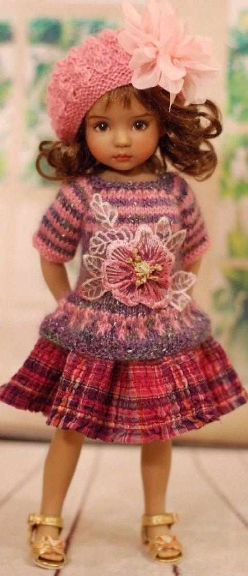 f735d83835b2 Bellissimi Bambini · Bambole Di Uncinetto · Vestiti Per Bambole · Effner  Bamboline