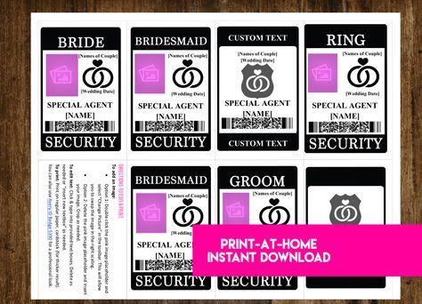 INSTANT DOWNLOAD Ring Security Badge Wedding Security Suite - Ring security badge template