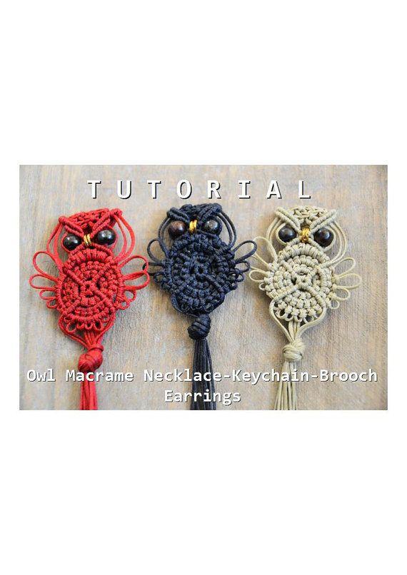 Macrame Owl Tutorial / Macrame Owl Pattern / Macramedamare ...