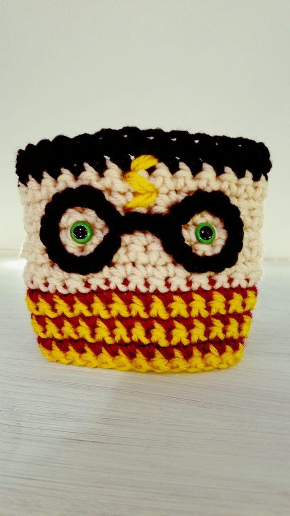 Harry Potter Coffee Cozy: Free Crochet Pattern | Tejido