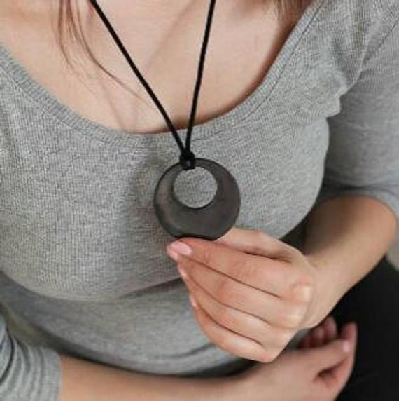 Shungite Pendant EMF protection Shungite necklace