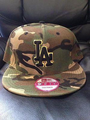 6fce6597654 NEW ERA 9Fifty Los Angeles LA Dodgers Camo Black Snapback hat cap ...