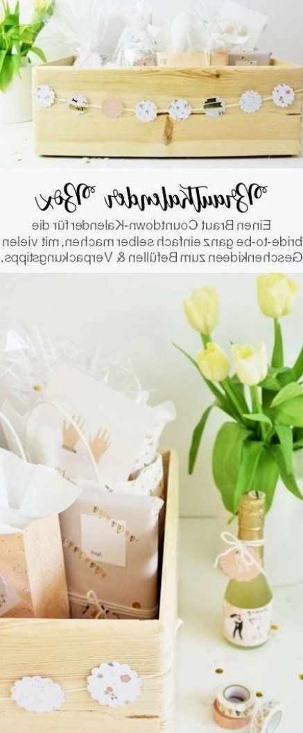 DIY Brautkalender mit Ideen zum Füllen #Brautkalender #DIY #füllen #gast gesch