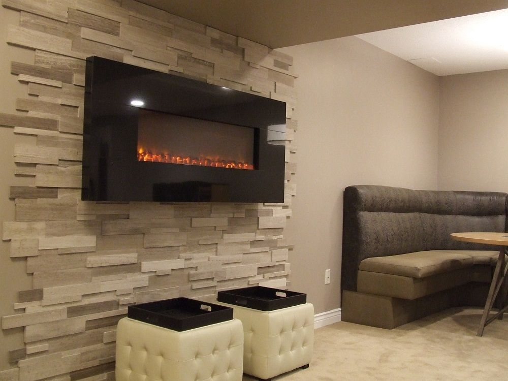 Dynasty BG100 Black Granite wall mounted electric fireplace