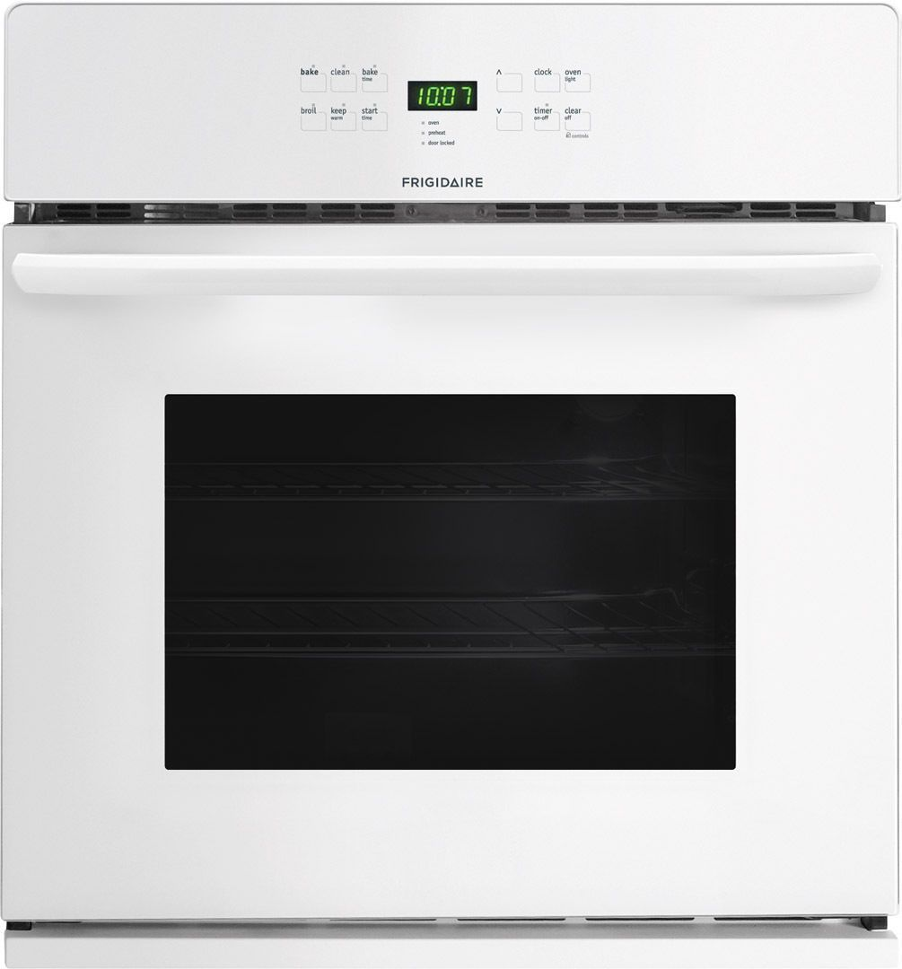 Frigidaire Ffew2725pw Electric Single Wall Oven In White Single Electric Wall Oven Single Wall Oven Wall Oven