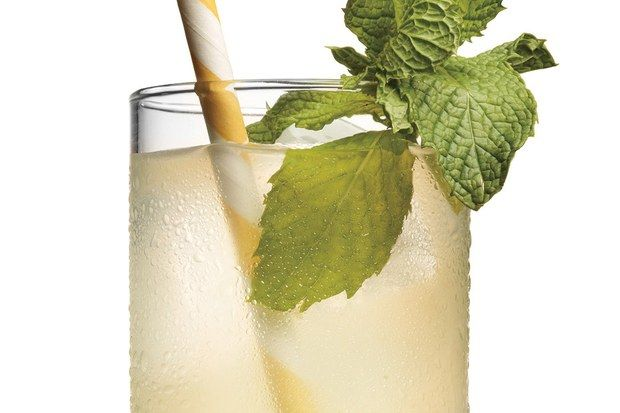 Orgeat, an         almond-flavored syrup,         gives this bubbly cocktail         its trademark fragrance.         Find it at better supermarkets         or liquor stores.