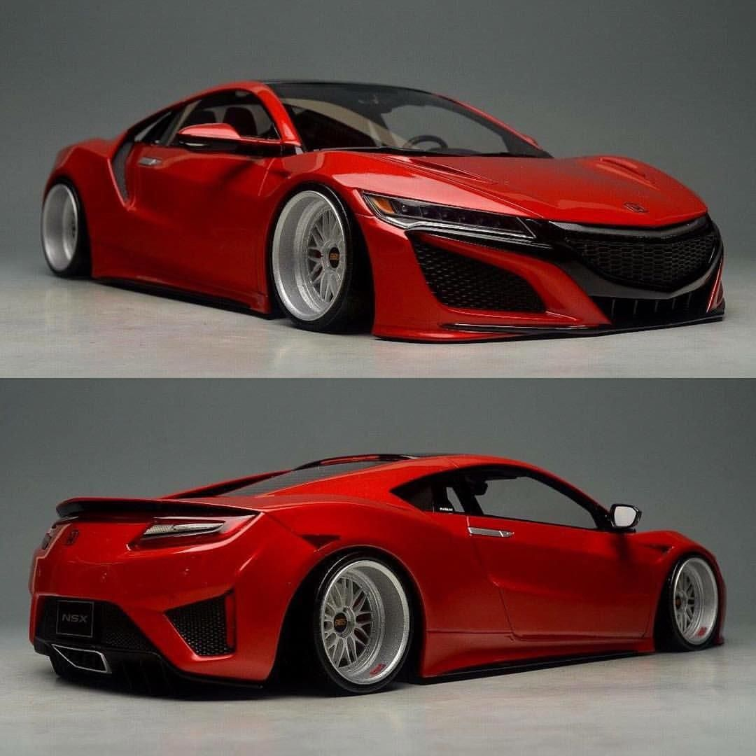 1/18th Model Of The 2nd Gen NSX On BBS's #acuransx #acura