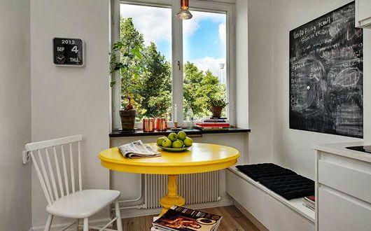 Schicke Sitzecke Kuche Fur Kleine Kuche In Weiss Sitzecke Kuche Innenarchitektur Und Haus Deko