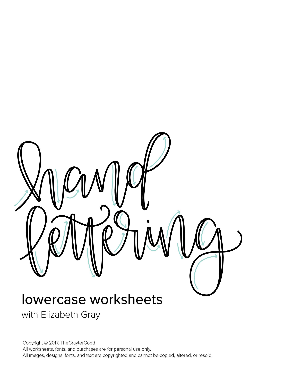 Hand Lettering Worksheets Hand Lettering Practice