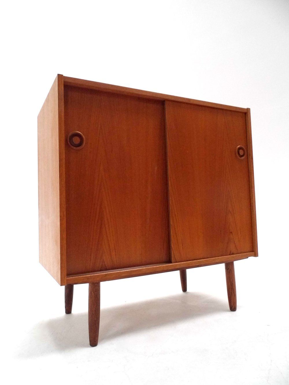 1960s Record Cabinet P12212 Vintage Danish Teak Record Cabinet Storage Unit Sideboard