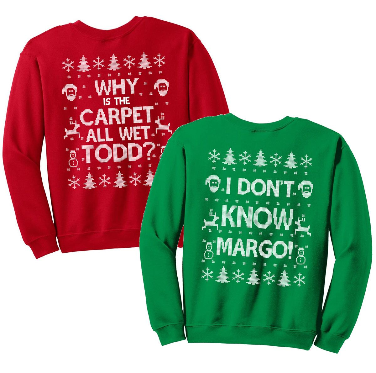 Matching Christmas Shirts I Don T Know Margo And Why Is The