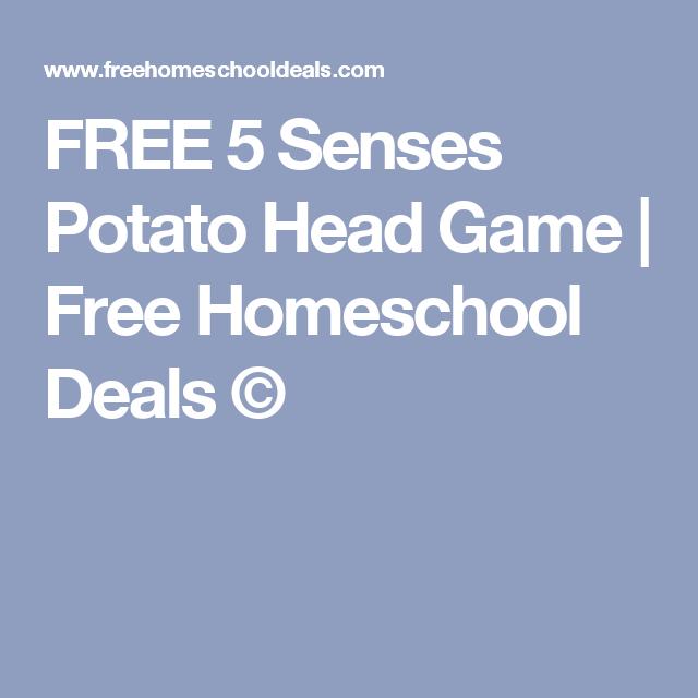 FREE 5 Senses Potato Head Game | Head games, Potato heads and Homeschool