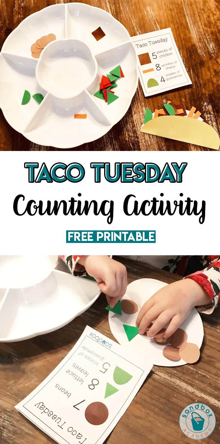 Preschool Math Activities – Build a Taco