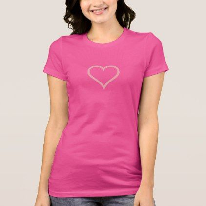 simple pink heart icon shirt minimal gifts style template diy