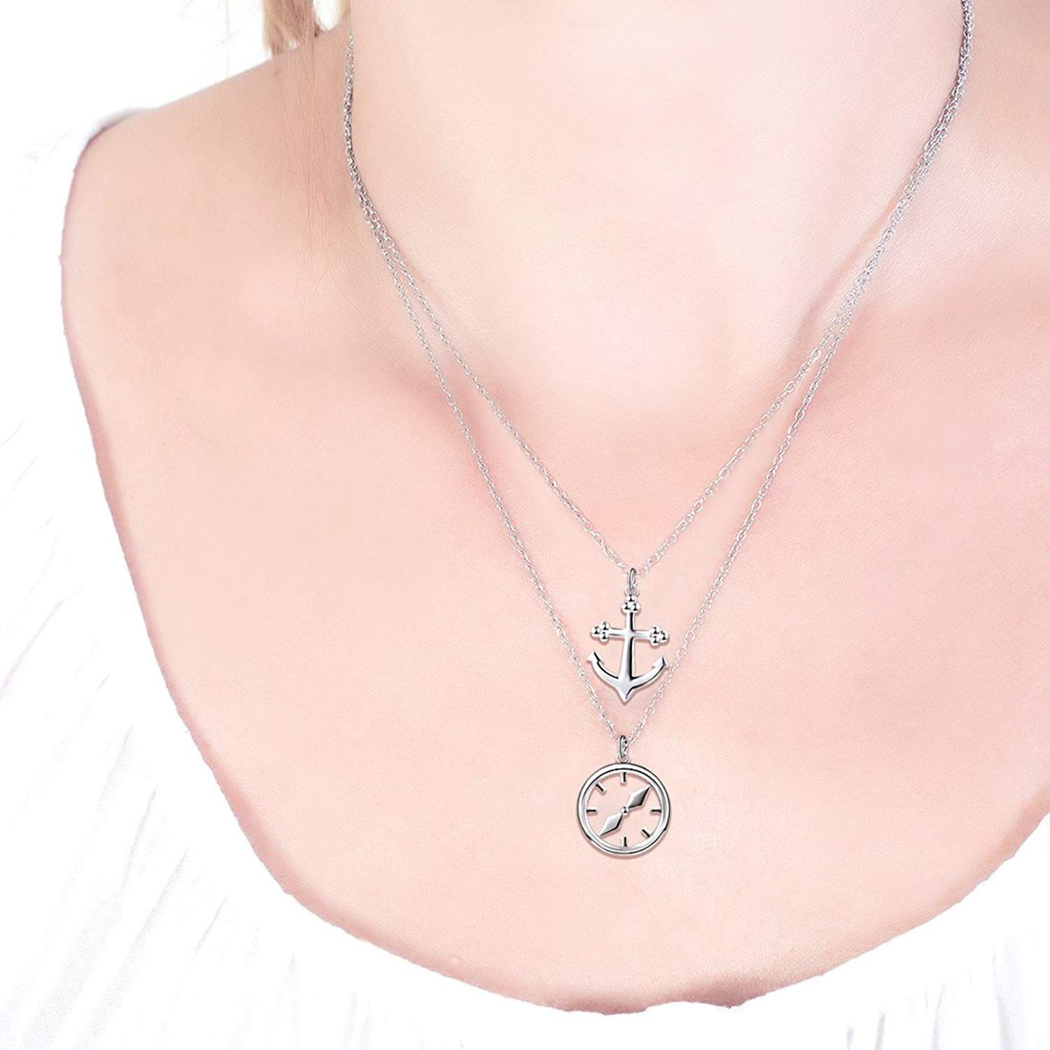 Silver Flower pendant for her handmade on sterling silver chain boho dainty necklace gift nickel free 925 pendant for her girlfriend gift