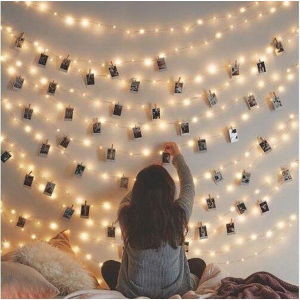 Photo Clip USB LED String Fairy Lights - 10m Warm