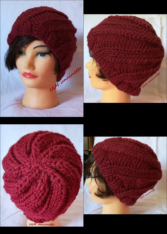 Berretto a spirale in lana e alpaca ai ferri Knitted wool   alpaca swirl  hat  iamuncinetto  handmade  fattoamano  fattoinItalia  madeinitaly   DropsAndes 6b387b710a1f