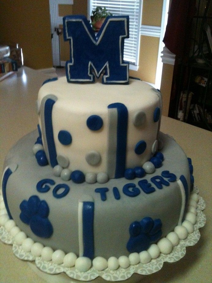 Excellent Memphis Tigers Cake With Images Tiger Cake Cupcake Birthday Personalised Birthday Cards Sponlily Jamesorg