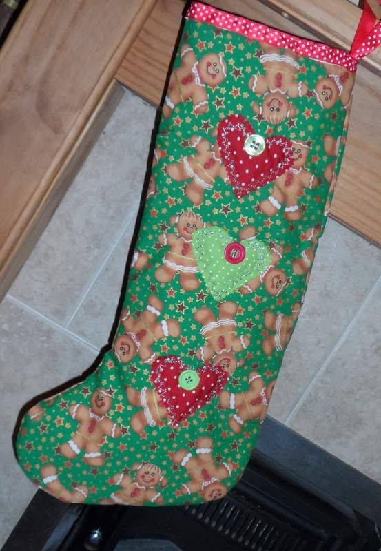 d98d48391b8 Gingerbread Christmas Stocking Handmade Gifts, Unique Gifts, Christmas  Stockings, Gingerbread, Craft Gifts
