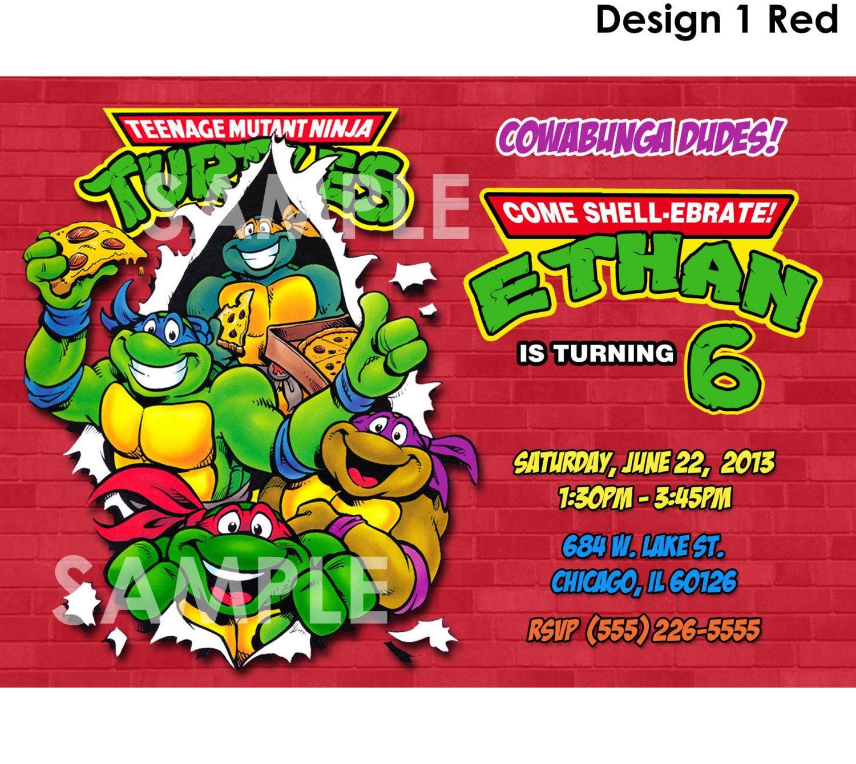 Teenage Mutant Ninja Turtles Invitation - Printable TMNT Birthday ...