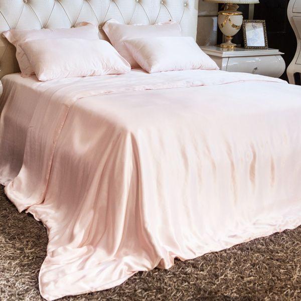 light pink luxury silk sheet sets a07 silk bedding