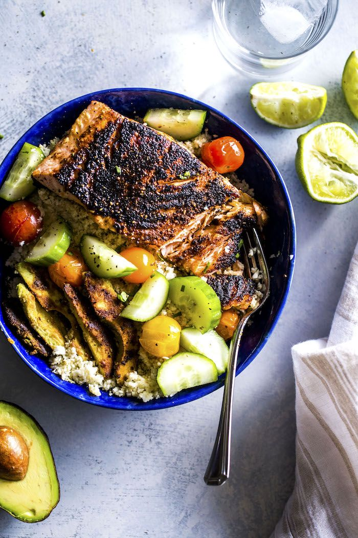 Whole30 Salmon Lunch Bowl Recipe The Almond Eater Recipes