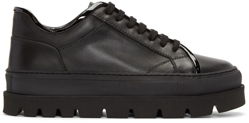 Maison Martin Margiela Leather Flatform Sneakers Pay With Visa Sale Online LKcE9