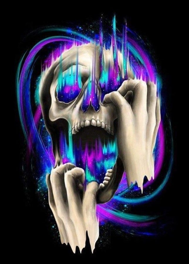 Feels like a colourful skull in a distant galaxy. # ...