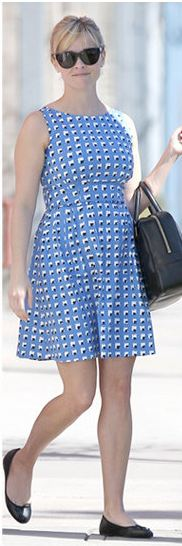 reese witherspoon - blue kate spade dress.