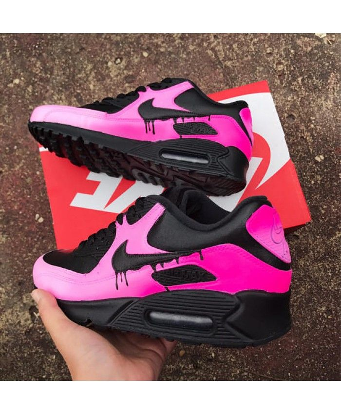 wearing nike air max 90 candy drip pink faded trainer, great