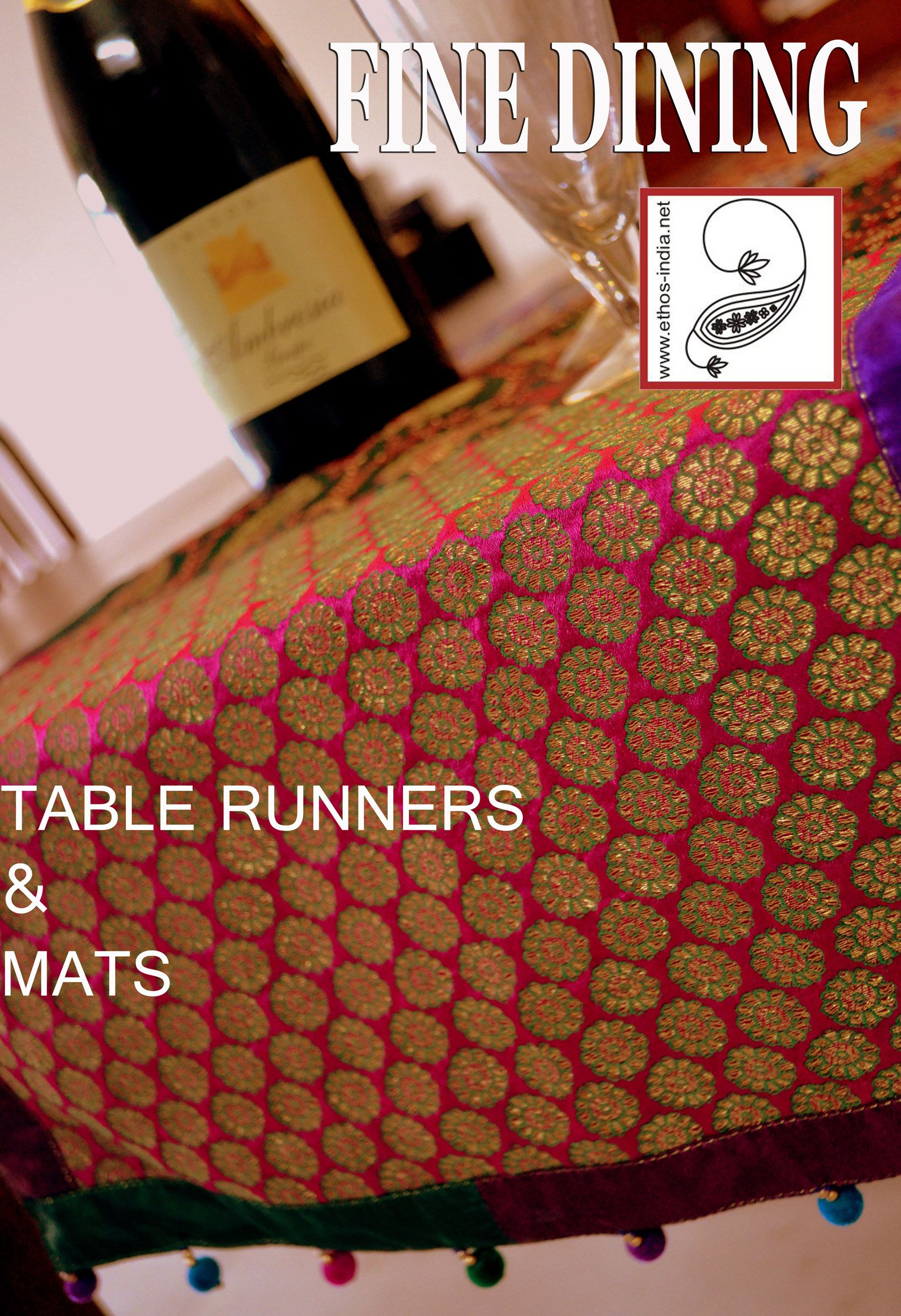 Make U Dining Look Festive With Brocade Table Runners Table Toppers Brocade Table Runners