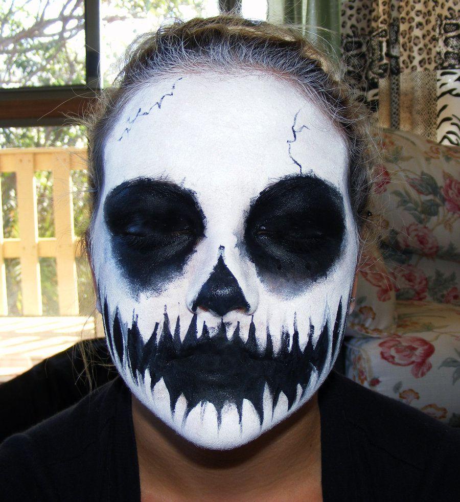 Uncategorized How To Skeleton Face Paint skull face paint by kowaigirl less kowaigirl