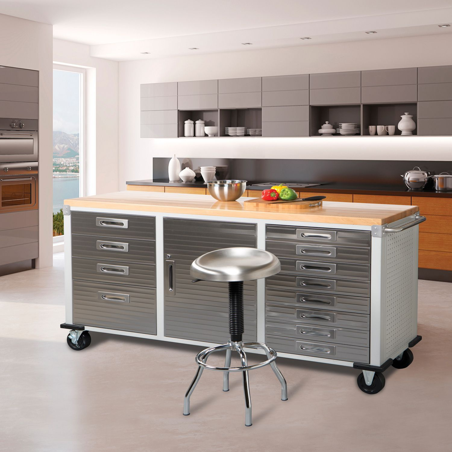 seville classics ultrahd 12-drawer rolling workbench | mobiles