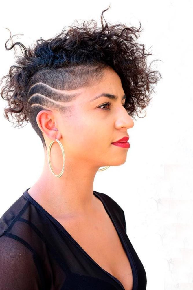 55 Beloved Short Curly Hairstyles For Women Of Any Age Lovehairstyles Curly Hair Styles Short Curly Hair Shaved Side Hairstyles