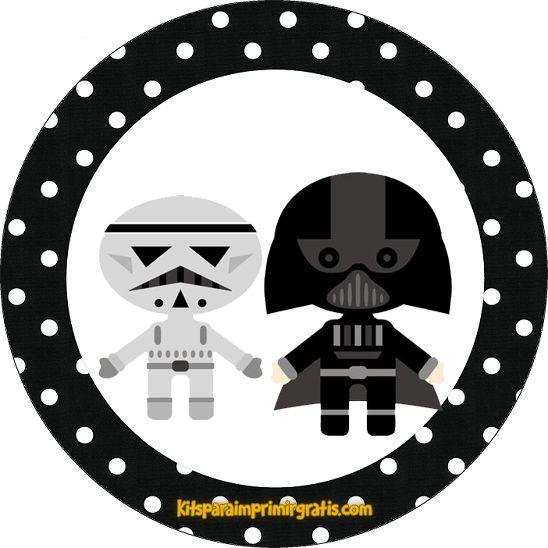 Star Wars Bebés: Mini Kit para Imprimir Gratis. | Star Wars ideas ...
