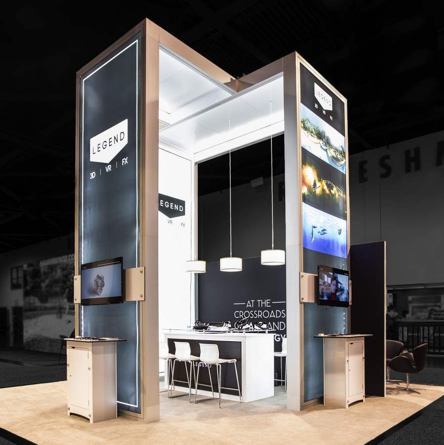 Exhibition Booth Design : An ingenious inspiring booth design by exponents for