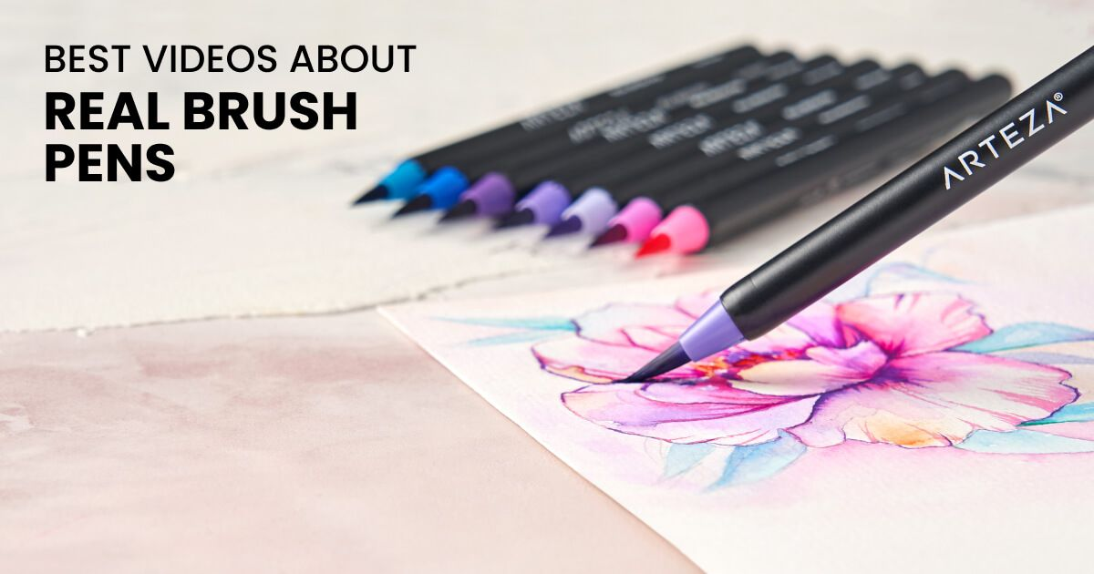7 best videos showing how to use arteza real brush pens in