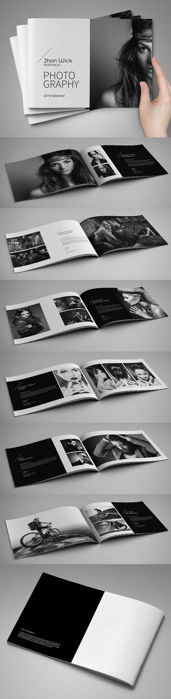 portfolio photobook brochure template design inspiration publication design pinterest. Black Bedroom Furniture Sets. Home Design Ideas