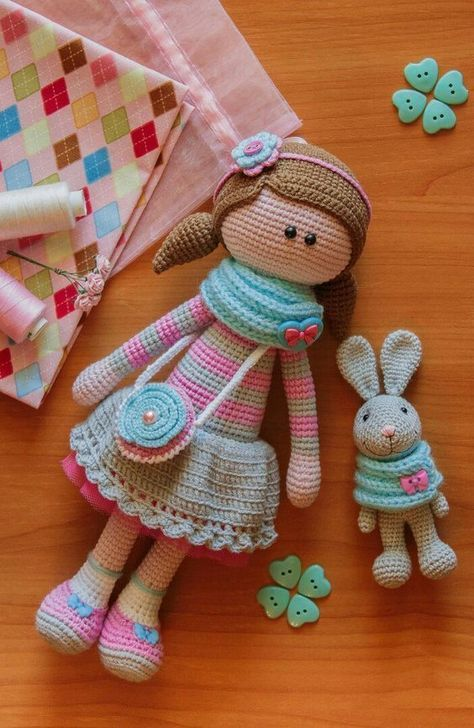 Crochet Dolls Archives - Page 7 of 10 - Crocheting Journal #knitteddollpatterns