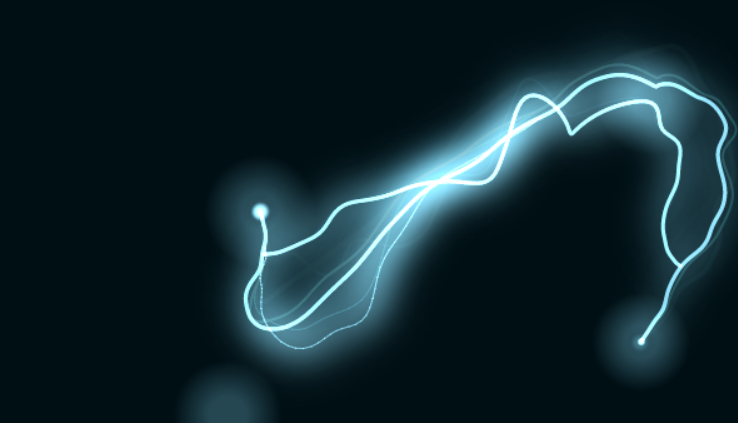 Javascript and CSS code example - electricity effect  Looks amazing