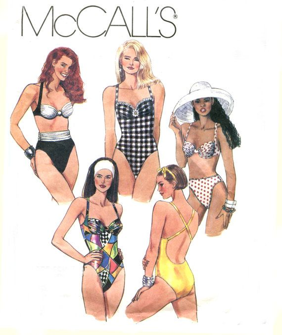 Plus Size Swimsuit Pattern - McCalls 5998 - One Piece Bathing Suit ...