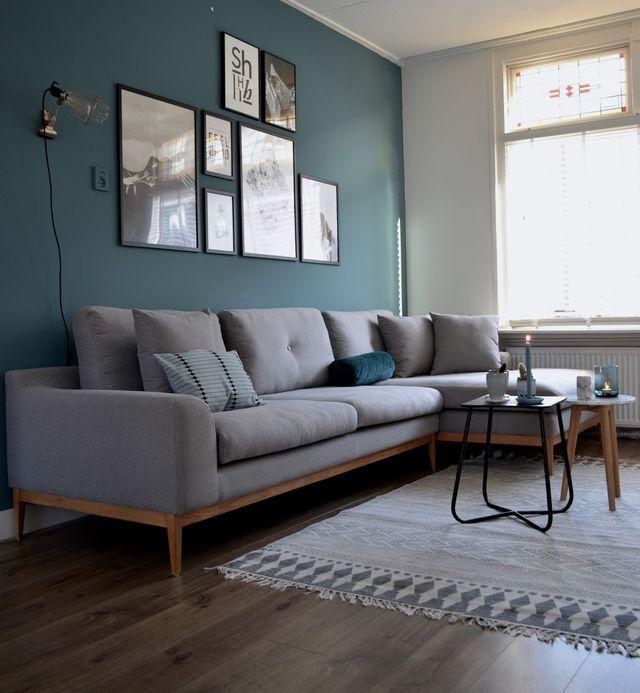 New year - new sofa (van het kastje naar de muur) Neue wohnung - wohnzimmer ideen petrol